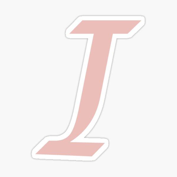 "Calligraphy Letter ""I"" Sticker"