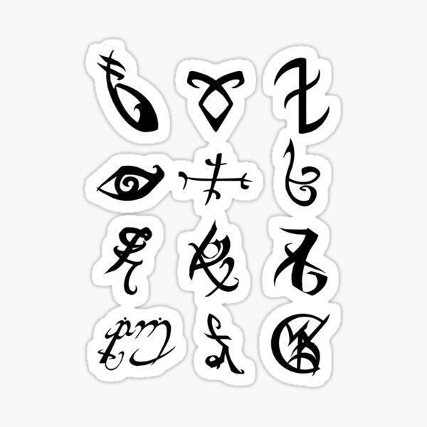 Shadowhunter runes stickers Sticker