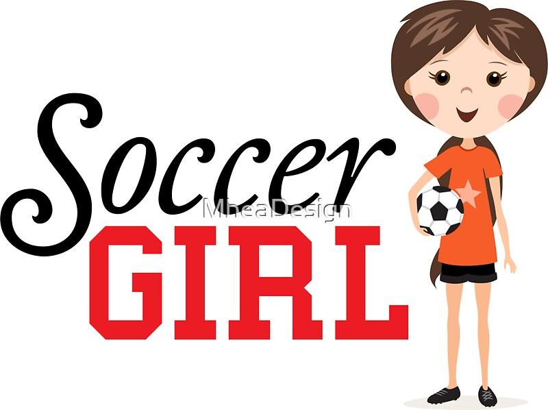 Cartoon soccer girl