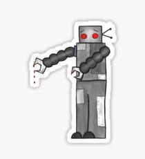 Hugging Robot Sticker