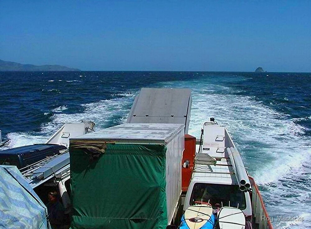 Nearly there, Great Barrier Island...........! by Roy  Massicks