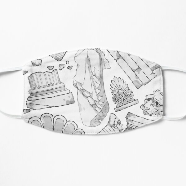Greek Architectural Elements - black and white LIGHT Mask