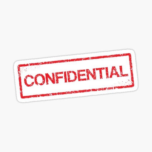 Confidential red grunge stamp sticker Sticker