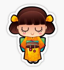 Kokeshi Orange Sticker