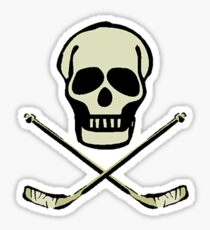 Ice Hockey Skull Sticker