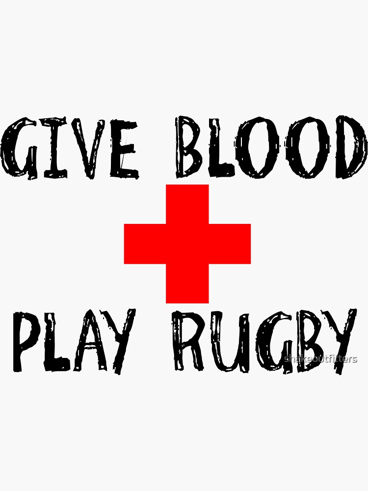1510537508 CafePress Give Blood Play Rugby Sticker Sticker Oval