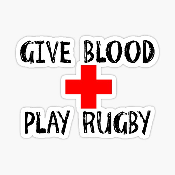 Give Blood, juega al rugby Pegatina