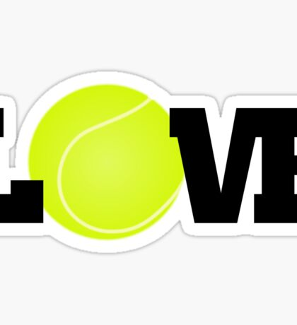 Tennis Love Sticker