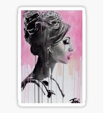 belle en rose Sticker