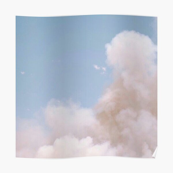 Aesthetic Sky with Clouds Poster