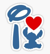 I Heart Stitch (Inverted) Sticker
