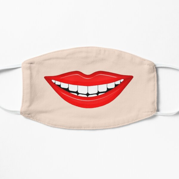Smiling Mouth With White Teeth Mask
