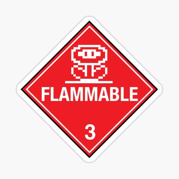 Flower Power Flammable Placard Sticker