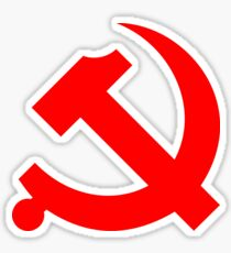Chinese Communist Party Hammer and Sickle Sticker