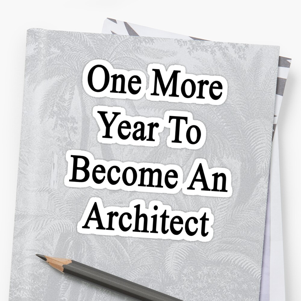 One More Year To Become An Architect  by supernova23