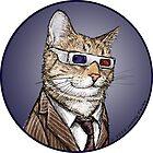 10th Doctor Mew Sticker by Jenny Parks
