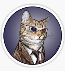 10th Doctor Mew Sticker Sticker