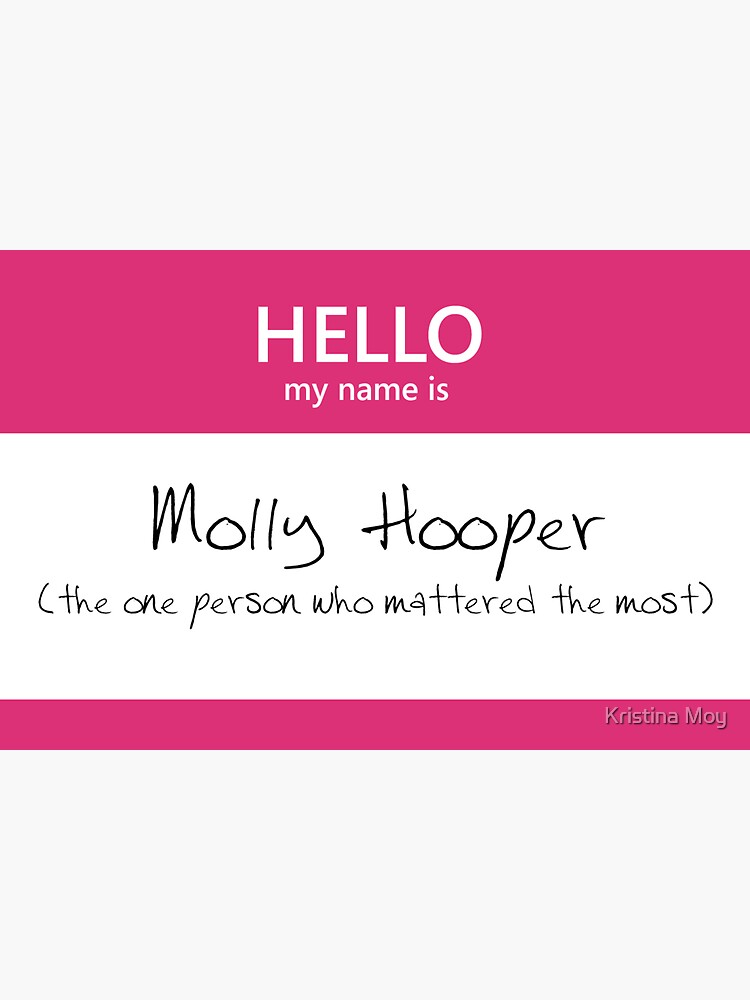 Molly Hooper Name Tag by blackoutart