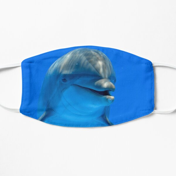 Smiling Happy Dolphin Flat Mask