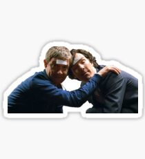 Drunk John and Drunk Sherlock Sticker
