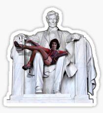 Frank Furter at the Lincoln Memorial Sticker