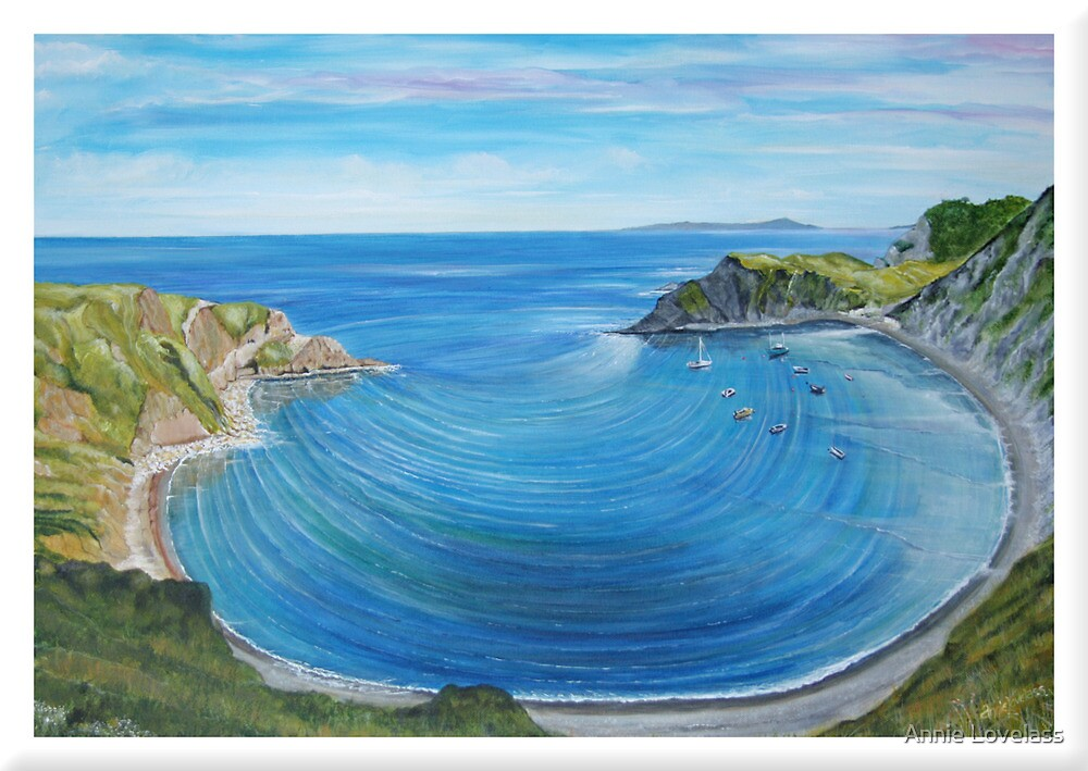 Lulworth Cove - panoramic by Annie Lovelass