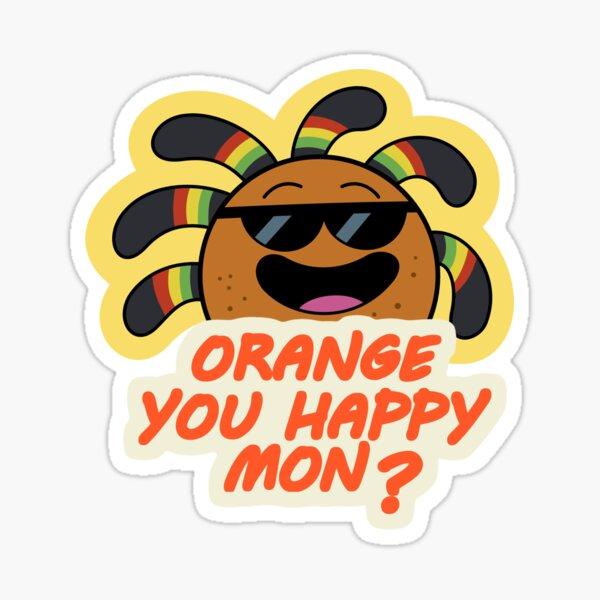 Rasta Orange Sticker
