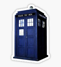 Simple Tardis  Sticker