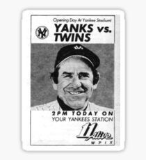 Yogi Berra Vintage 1983 Yankees vs Twins Opening Day Sticker