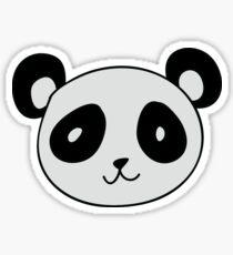 Cute Panda Face Sticker