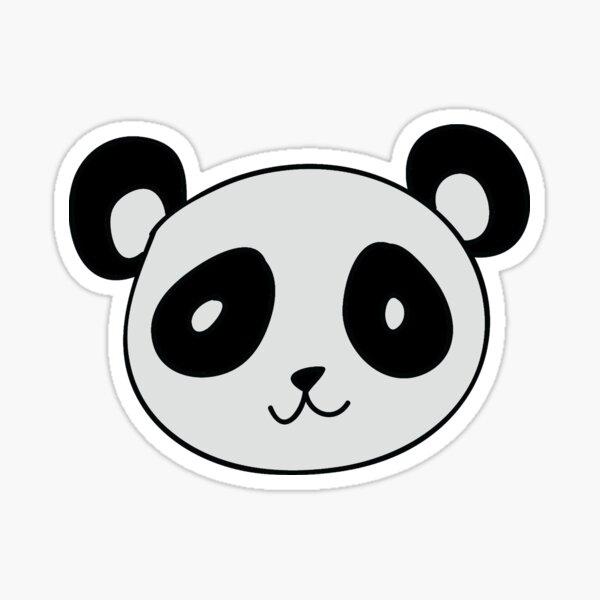 Diseño simple de la cara de un panda. Pegatina