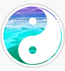 Yin & Yang (Aqua Water) Sticker