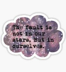 The Fault Cloud Sticker