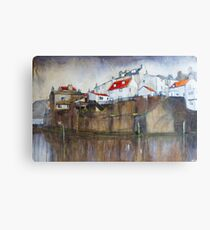 Across The Beck, Staithes Canvas Print