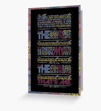 Phenomenal Woman By Maya Angelou - Typographic Poster Greeting Card