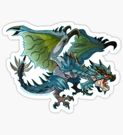 Azure Rathalos Cutie Sticker