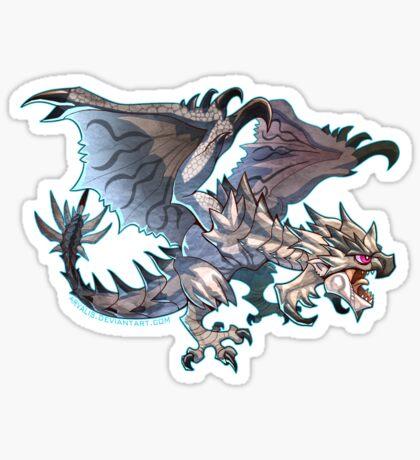 Silver Rathalos Cutie Sticker
