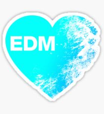 EDM Love Sticker