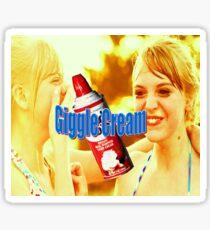 Giggle cream Sticker