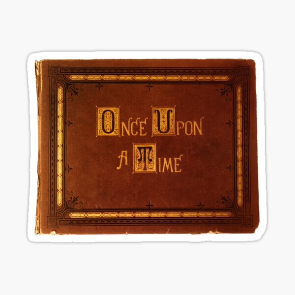 Once Upon A Time - Book Sticker Sticker