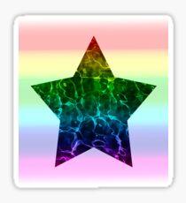 Rippling Rainbow Star (Rainbow Extended) Sticker