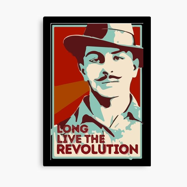 Shaheed Bhagat Singh Revolution Canvas Print