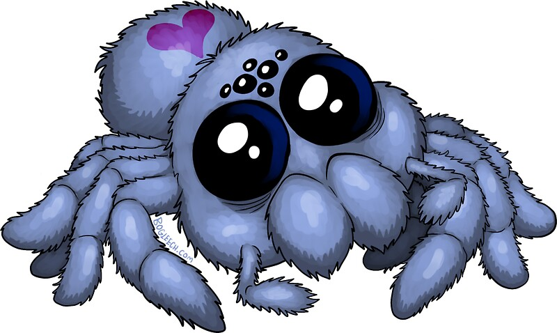 Quot Cute Blue Spider Quot Stickers By Bogleech Redbubble