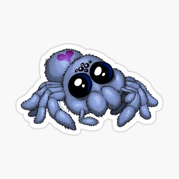 Cute Blue Spider Sticker