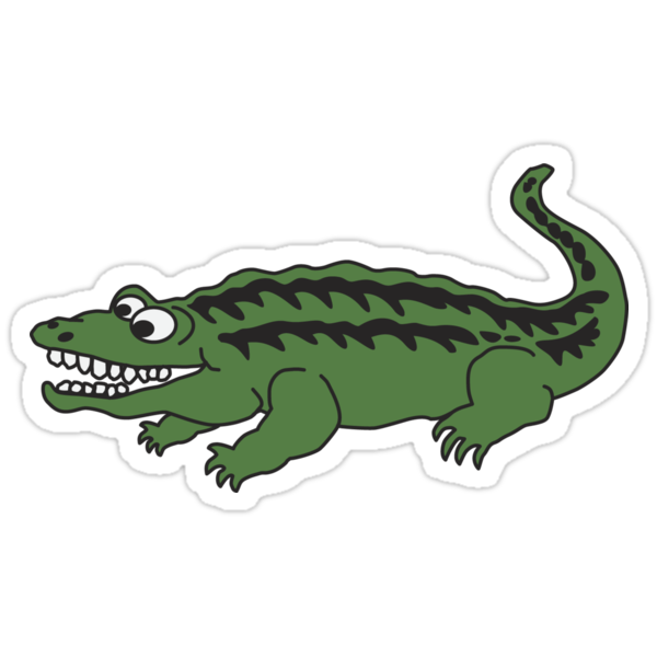 Quot Cute Cartoon Alligator Or Crocodile Quot Stickers By Wasootch