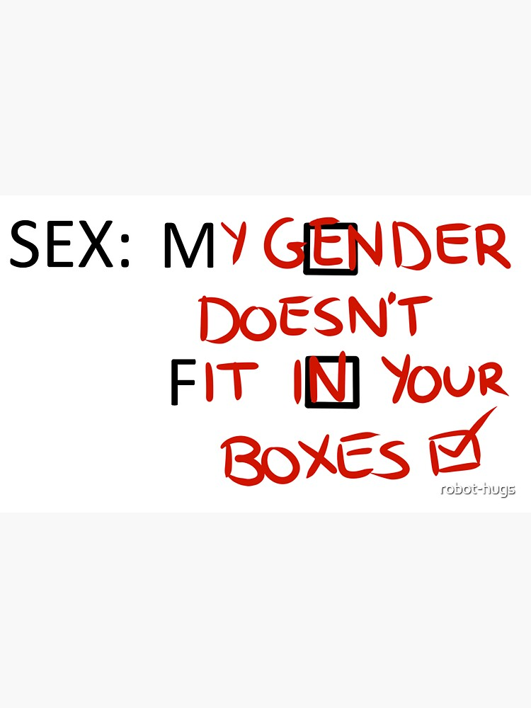 Gender Boxes Sticker by robot-hugs