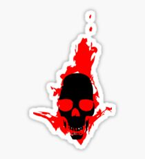 Flaming Skull Sticker