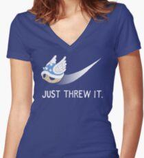 Blue Shell Athletics Women's Fitted V-Neck T-Shirt