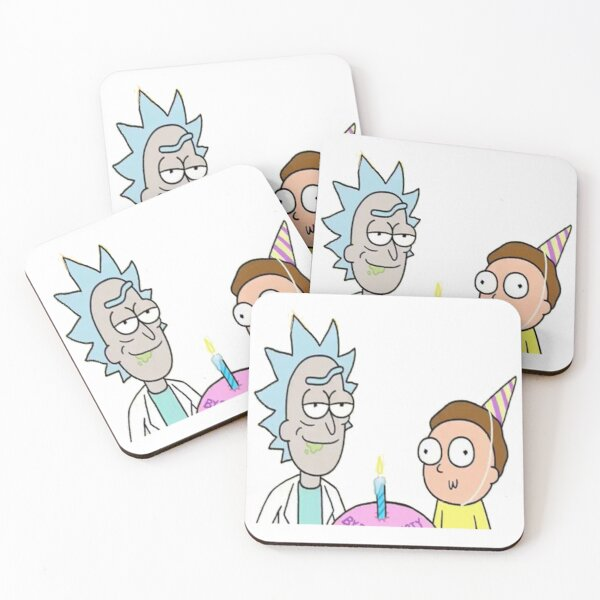 birthday doc and Marty Coasters (Set of 4)