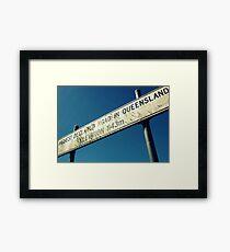 High Sign Framed Print